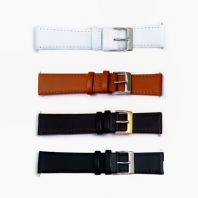 Smooth Stitched Leather Watch Band Odd Sizes  15mm - 19mm C088